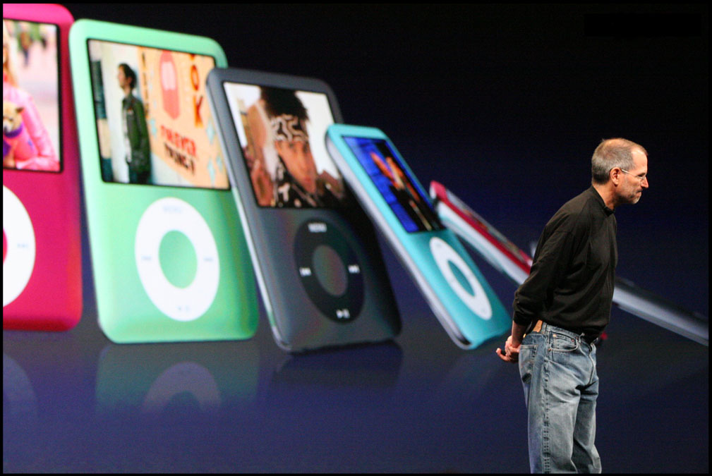 Steve Jobs unveils new iPods in San Francisco, 2007